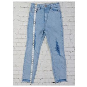 ASOS Jeans - ASOS High Waisted Light Blue Distressed Jeans